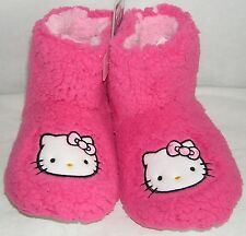 Hello Kitty Slipper Booties PINK PLUSH NICE GIFT FREE USA SHIPPING LARGE 9-10