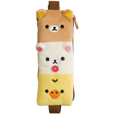 San-X Rilakkuma Pen Pouch / Pencil Case with Elastic Band FT28001 Free Reg Ship