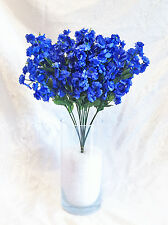 12 Baby's Breath ~ ROYAL BLUE HORIZON ~ Gypsophila Silk Wedding Flowers Bouquet
