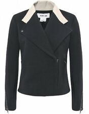 NWT HELMUT LANG Black Performa Leather Collar Fitted Jacket - S Small (2-4-6)