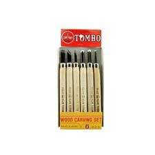 6pc Hinomaru Tombo Japanese Wood Carving Tools Knife Set