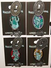 Disney Pins Haunted Mansion Halloween 2016 Lock & Key Hinged LE 4 Pin Set NEW