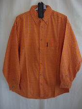 Mens Shirt - Americano, size S 37/38, orange/red check, cotton, BNWT casual 1750