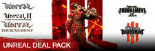 Unreal Deal Pack (Steam PC Download) *Unreal 1 GOLD+Tornament+2+2004+3 Black