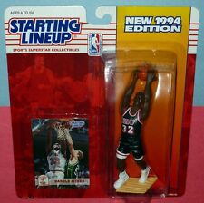 1994 HAROLD MINER Miami Heat #32 Rookie - low s/h - sole Starting Lineup NM+