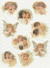 Rice Paper for Decoupage Decopatch Scrapbook Craft Sheet Vintage Sweetly Angels2