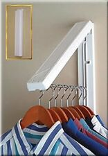 New Clothes Hanger Rod Wall Mount Space Saver Clothing Organizer Laundry Room .