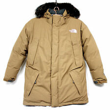 THE NORTH FACE Men's XL Tan Gore-Tex 600 Goose Down Hooded Parka Stadium Coat