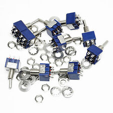 10pcs 6-Pin DPDT ON-ON Mini Toggle Switch 6A 125VAC Mini Switches good new