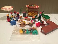 Playmobil Victorian Mansion 5341 5342 Vegetable Stand Meat Market LOT Fish