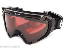 BOLLE small fit EXPLORER OTG ski snow Goggles Shiny Black/ Vermillon Gun 21376