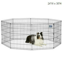 "Folding Exercise Pet Playpen Portable Kennel Dog Fence Puppy 30""H Outdoor Travel"