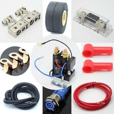 Automotive Battery Management Kit Dual Battery Isolator Wires fuses terminals