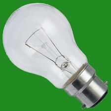 12x 100W CLEAR INCANDESCENT STANDARD FILAMENT GLS LIGHT BULBS BAYONET CAP BC, B2