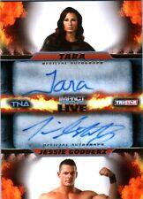 TNA Tara & Jessie Godderz 2013 Impact LIVE GOLD Dual Autograph Card SN 19 of 99