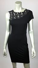 Women's size medium single shoulder cutout cocktail evening black mini dress