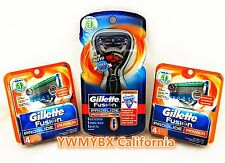 Gillette Fusion Proglide Power 9 Cartridges,Flex Ball handle,***ON SALE***#G002B