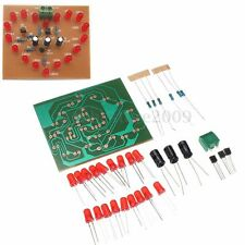 "Electronic Heart-shaped DIY Kit LED Flash Light 3-4v 6.1x6.8cm 2.4""x2.67"" New"