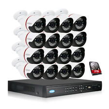 Tmezon Face Detect 16 channel POE NVR 2.0MP 1080P IP Security Camera System 3TB