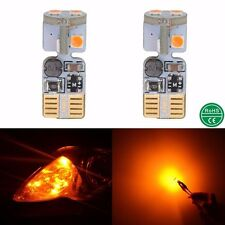 2X Amber T10 2825 W5W 168 175 501 CANBUS 6W LED Car Light Lamp 12V 24V Bulbs