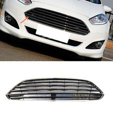 For Ford Fiesta 2014-2016 ABS Chrome Horizontal stripes front grille vent trim