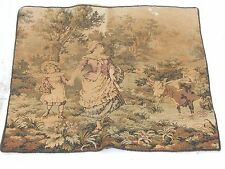 Vintage French Beautiful Scene Tapestry 43x47cm T731