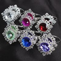 12pcs Diamond Napkin Ring Serviette Holder Wedding Banquet Dinner Decoration Set