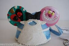 Disney Store Alice in Wonderland Ear Hat Christmas Ornament Cheshire Cat Queen