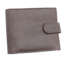MENS NEW BROWN LUXURY LEATHER CASUAL WALLET WITH ZIP POCKET
