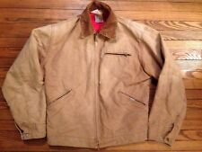 Vintage Carhartt Quilt-Lined Cotton Duck Work Chore Coat Jacket USA Talon Zip