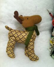 Woodland Plush Moose w/ Antlers Christmas Tree Ornament Hunting, Cabin