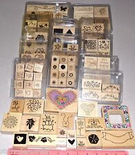 Huge Lot Stampin Up Stamp Sets 13 Clam Box Sets & 20 Assorted Vendors of Singles