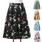 VTG Polka Dots/Floral Dress Pin Up Vintage 50s Swing Housewife Skirt