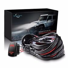 Mictuning Wiring Harness Red LED Light Bar Laser Rocker Switch 40 Amp Relay fuse