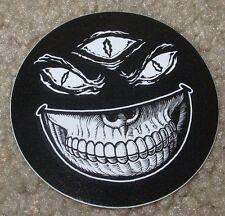 MISHKA NYC Popaganda Smiley 3 Eye Skull Skate Sticker Ron English decal