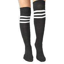 Ladies Thigh High Sexy Black 118 Football Referee Over the Knee Sock Fancy Dress