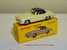ATLAS EDITIONS DINKY TOYS, 526, MERCEDES 190 SL, CREAM / BLACK, + CERT OF AUTH