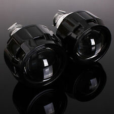 "2x 2.5"" Mini Bi-Xenon HID Projector Kit Lens Car H1 Headlights Shroud Gift LHD"