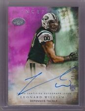 2015 Inception Pink Parallel Leonard Williams On Card Auto Rc Serial # to 99