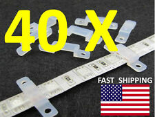 40pcs. --- MOUNTING CLIP --- for 3528 5050 5630 SMD LED strip concrete mount