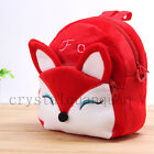 Red Kid Boy Girl Children Baby Animal Cotton Backpack Zoo Mini Fox School Bag