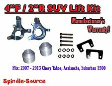 "2007 - 2013 Chevy Suburban Tahoe Avalanche 1500 4"" / 2"" Lift Kit Spindle 07-13"