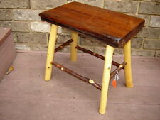 handmade rustic log cabin/home BLACK WALNUT/HICKORY TABLE/stool/endtable/bench