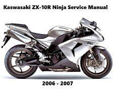 Kawasaki ZX10R Ninja ZX 1000 Maintenance Service Repair Manual 2006 2007 ZX-10R