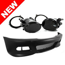 99-06 BMW E46 3-Series M3 Style Front Bumper w/ Smoke Fog Lights + Covers
