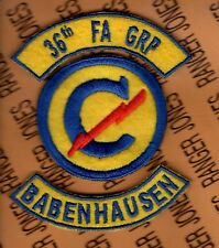 US Army 36th Constabulary Field Artillery Group BABENHAUSEN GERMANY patch set