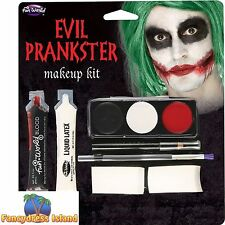 EVIL PRANKSTER THE JOKER ZOMBIE MAKE UP KIT Face Paints Fancy Dress Accessory