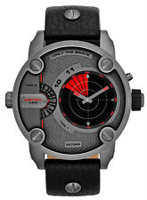 Diesel DZ7293 Little Daddy Red Black Analog Digital Dial Leather Band Men Watch