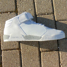 Supra Ellington Strap White-White Mid top UK 8 leather mens trainers