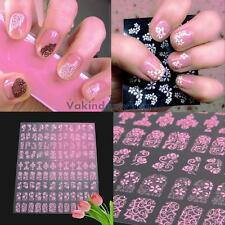 108pcs 3D DIY Flower Nail Art Stickers Manicure Tips Decals Decoration Tool Kit